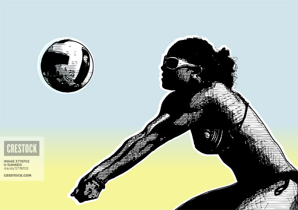 Beach volleyball wallpaper