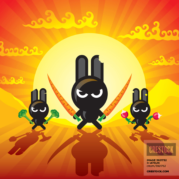 Wallpaper Ninja Rabbits