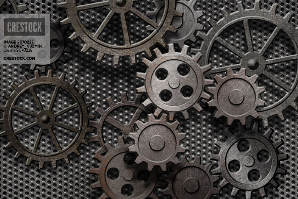abstract rusty gears wallpaper