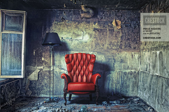 Luxury armchair retro wallpaper