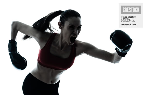 Woman exercising boxing wallpaper