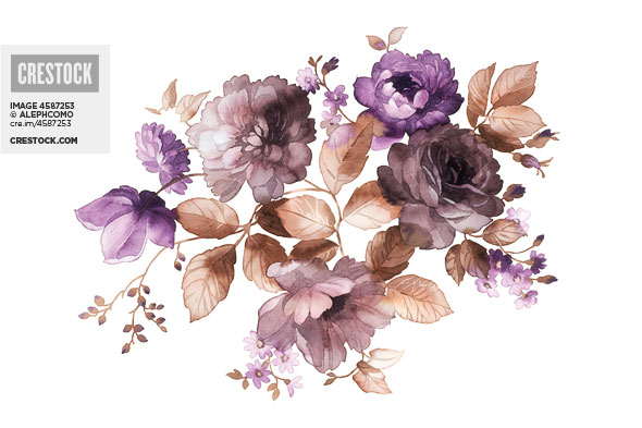 Watercolor Flowers Wallpaper