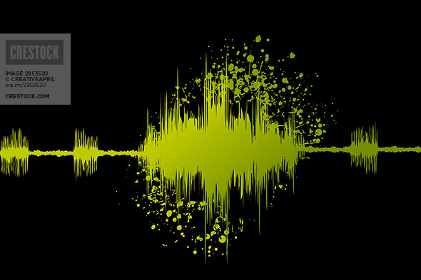 digital sound waves wallpaper